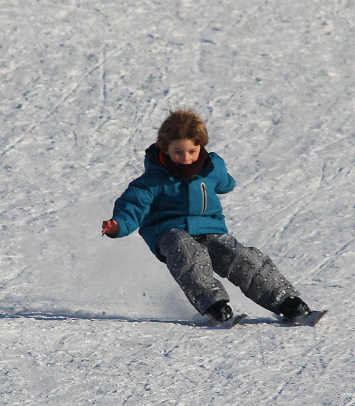 Niklas auf Ski