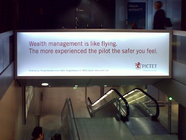 Wealth management is like flying